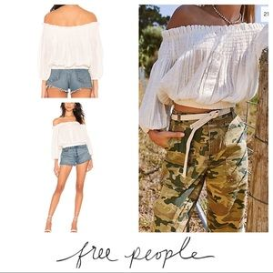 NWT Free People💕 Dancing Till Dawn Peasant Top